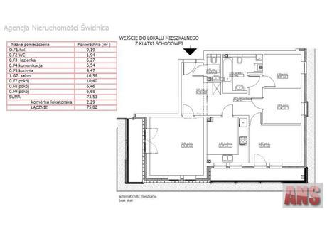 Mieszkanie na sprzedaż - Dzierżoniów, Dzierżoniowski (pow.), 73,9 m², 250 000 PLN, NET-MS-0348