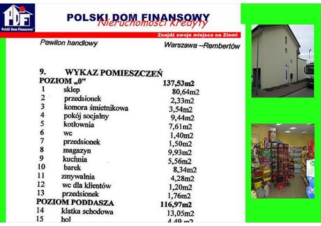 Lokal na sprzedaż - Rembertów, Warszawa, 255 m², 750 000 PLN, NET-323945