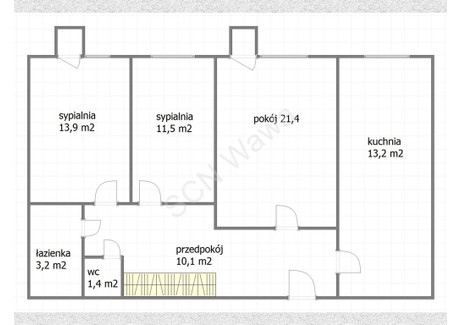 Mieszkanie na sprzedaż - Chmielna Wola, Warszawa, 74 m², 1 180 000 PLN, NET-M-92309-16