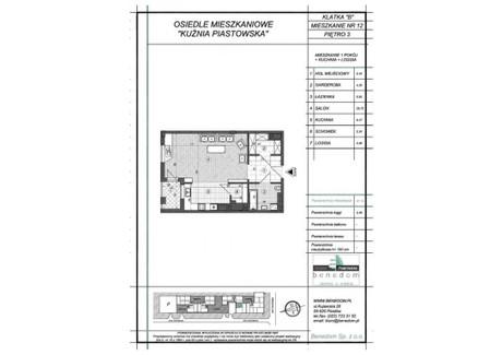 Mieszkanie na sprzedaż - ul. Sowińskiego Warszawa, Piastów, pruszkowski, 57,16 m², inf. u dewelopera, NET-3B12