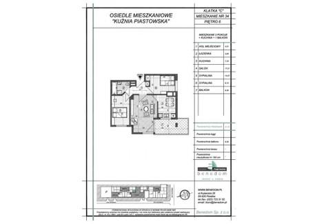Mieszkanie na sprzedaż - ul. Sowińskiego Warszawa, Piastów, pruszkowski, 51,56 m², inf. u dewelopera, NET-6C34